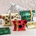 Buste regalo metallizzate mille bolle verde 20x35 pz.50